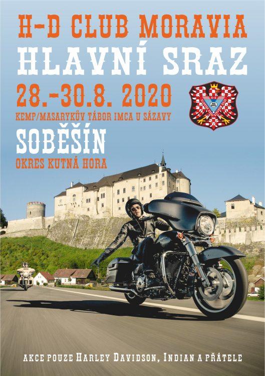 08.28. 30. Hlavni Sraz 2020 Soběšín Plakát