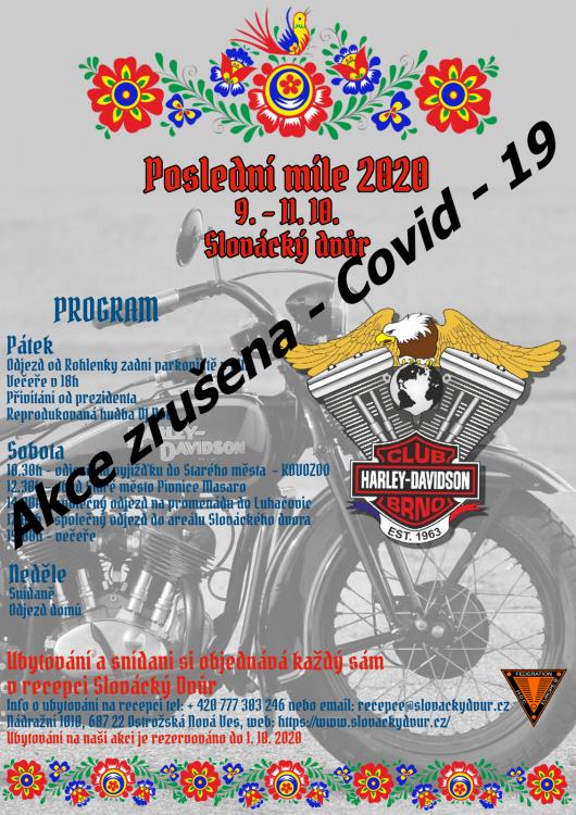 10.9. 11. Posledni Mile H Dc Brno 2020 Zrušení